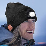 DIOSN Wireless Bluetooth Beanie Hat with LED Headlight USB Rechargeable